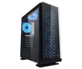 Gabinete gamer k-mex preto lateral em acrílico