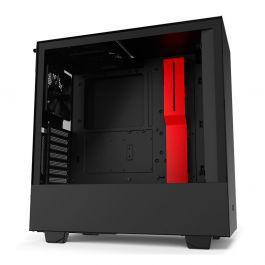 Gabinete nzxt h510i preto/vermelho