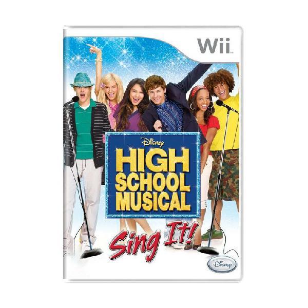 Jogo high school musical: sing it! - wii