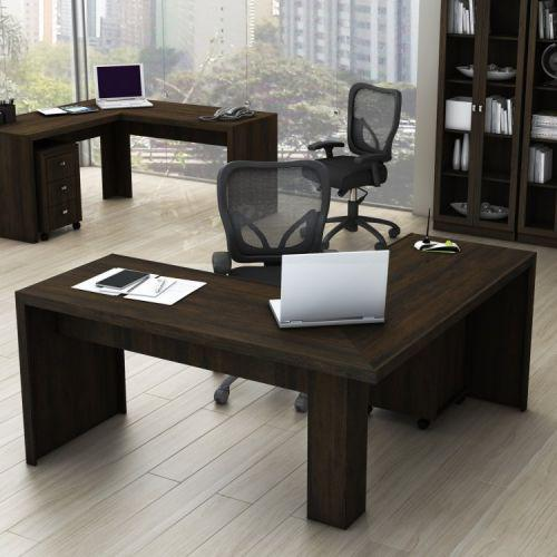 Mesa angular escrit/u00f3rio tecno mobili r/u00fastico