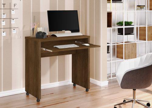Mesa de computador betine canela madeirado