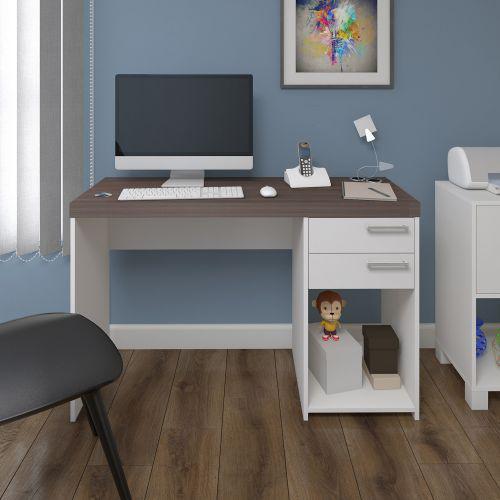 Mesa escrivaninha artany avila home office 2 gavetas -