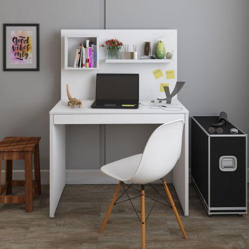 Mesa escrivaninha artany first home office 1 gaveta com
