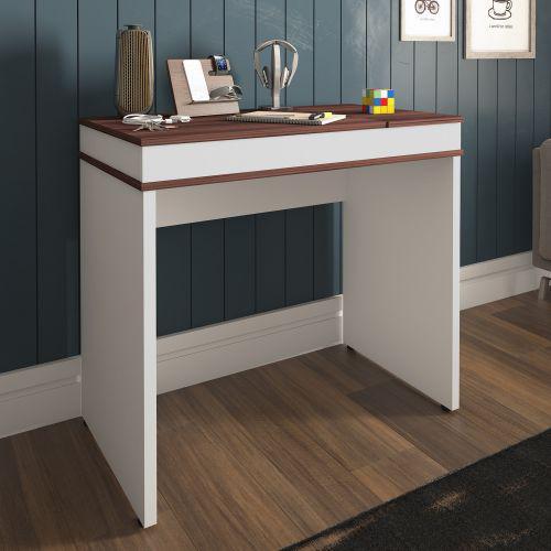Mesa escrivaninha artany mind home office ip/u00ea e branca