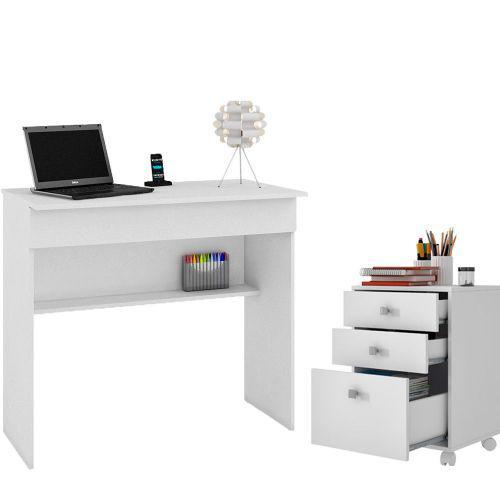 Mesa escrivaninha office ella com gaveteiro para