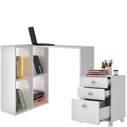 Mesa escrivaninha office geek com gaveteiro para