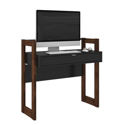 Mesa escrivaninha tecno mobili az-1007 1 gaveta preta e