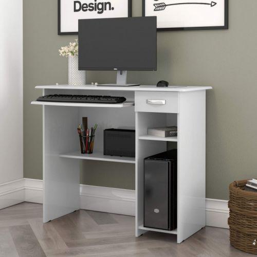 Mesa para computador 1 gaveta viena ej m/u00f3veis branco