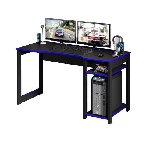 Mesa para computador desk gamer preto e azul