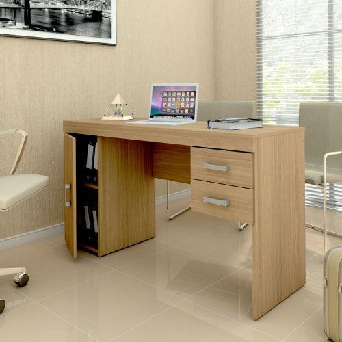 Mesa para computador miranda com 1 porta, 2 gavetas e 1