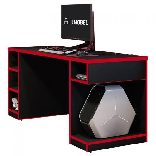Mesa para computador notebook gamer pro preto//vermelho -