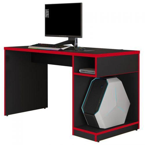 Mesa para computador notebook gamer x preto//vermelho - fit