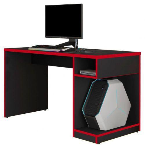 Mesa para computador notebook pc gamer legend preto vermelho