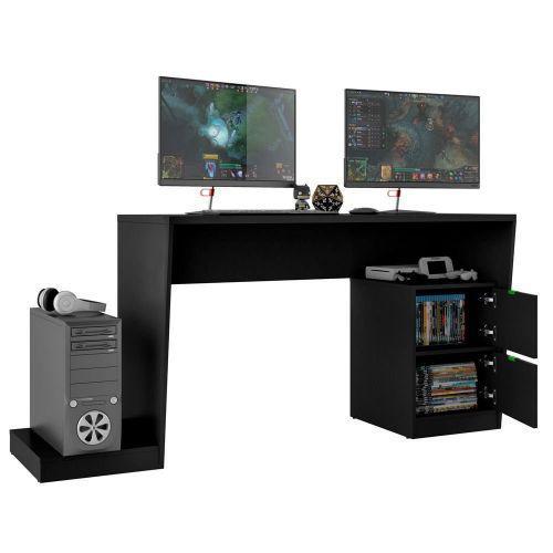 Mesa para computador notebook pc gamer strike bmg-01 preto