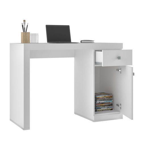 Mesa Para Computador Notebook Pratic 01 Gaveta Branco - Lyam
