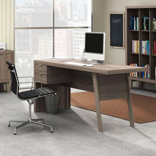 Mesa para escrit/u00f3rio 2 gavetas com estrutura em mdp