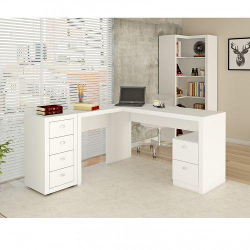 Mesa para escrit/u00f3rio, 2 gavetas, me4129 tecno mobili