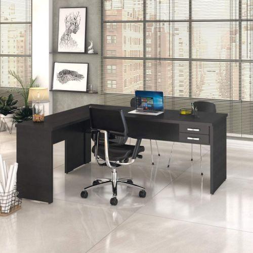 Mesa de escrit/u00f3rio em l 1,80x1,60m com 2 gavetas work30