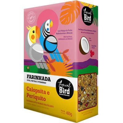 Ração extrusada tropical bird farinhada super premium com