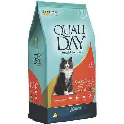 Ração qualiday especial premium cat castrado adulto