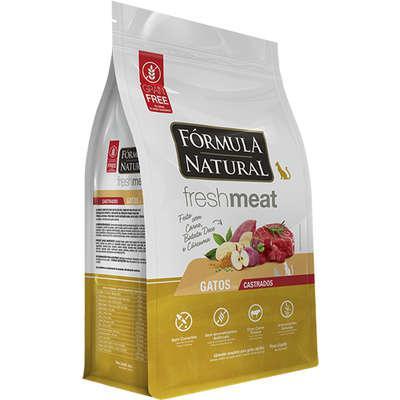 Ração seca fórmula natural fresh meat carne para gatos