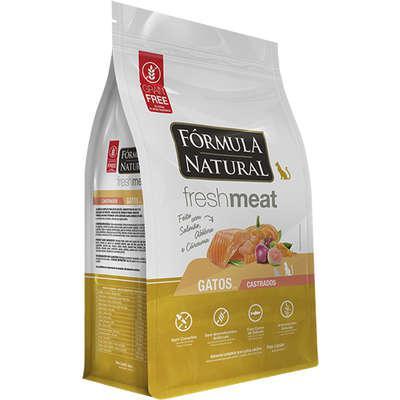 Ração seca fórmula natural fresh meat salmão para gatos