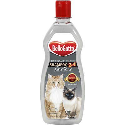 Shampoo 2 em 1 bellogatto ph neutro para gatos