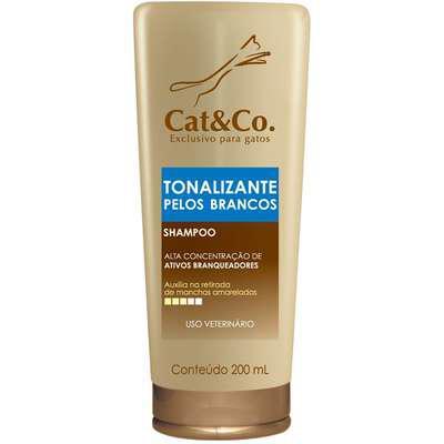 Shampoo cat & co. tonalizante pelos brancos - 200 ml