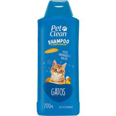 Shampoo e condicionador pet clean para gatos