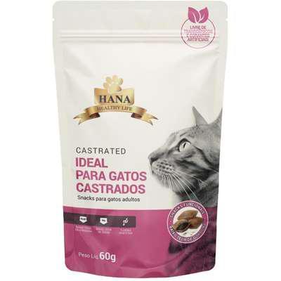 Snacks hana healthy life castrated para gatos adultos