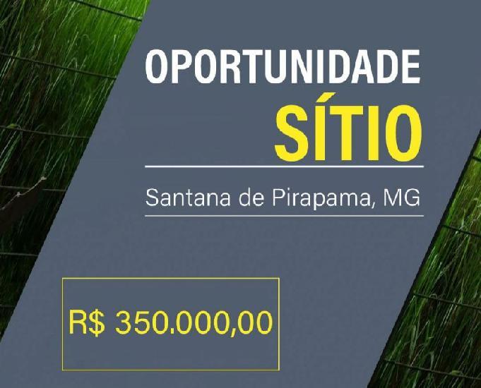 Vende sitio 100.000 metros quadrados, santana pirapama, mg