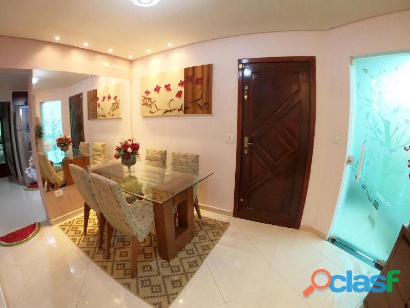Apartamento sem condomínio mobiliado 75 m² em santo andré   jardim milena.