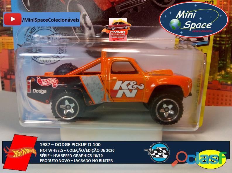 Hot Wheels 1987 Dodge D100 Pickup 1/64 7