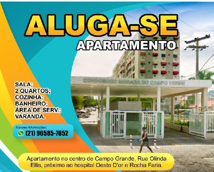 Alugo apartamento centro de campo grande rj