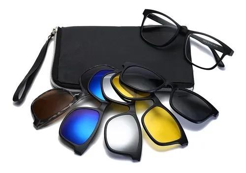 Armação de óculos grau 5 lentes magnética barato uv400
