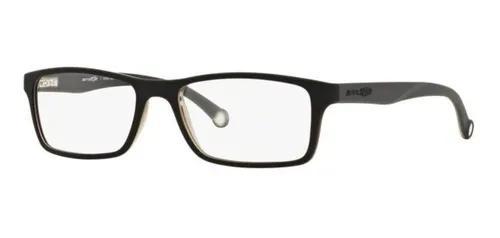 Armação oculos grau arnette an7073 2216 preto cinza fosco