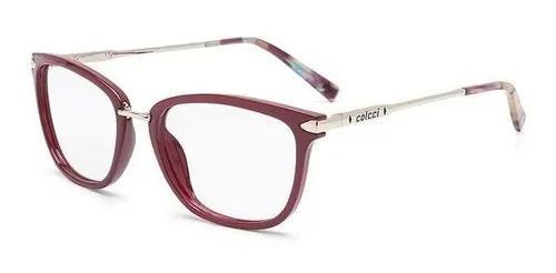 Armação oculos grau colcci anna c6095c2654 bordô brilho