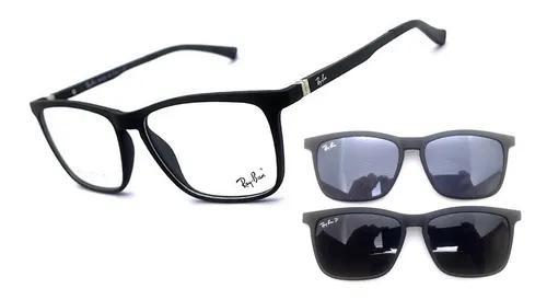 Armação oculos grau masculino solar clip on original