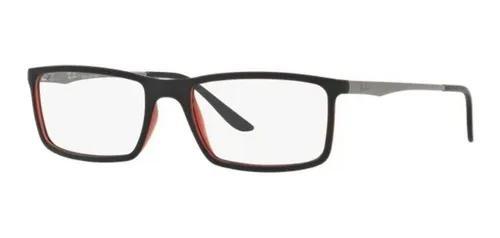 Armação oculos grau ray ban rb7026l 8002 54mm preto