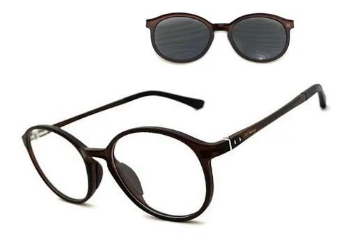 Armação óculos grau redondo m.thomaz mt162 clip on
