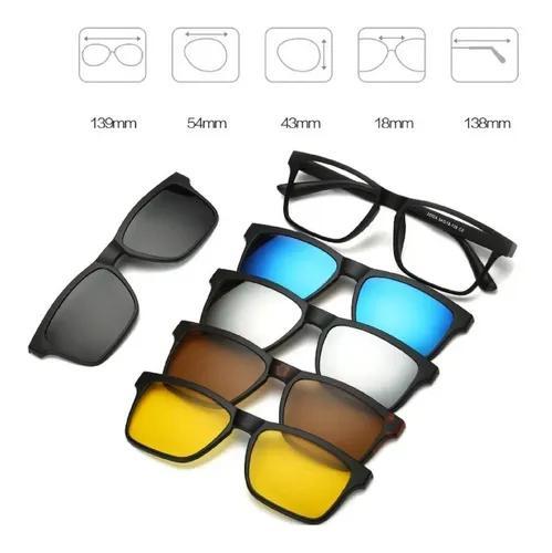 Armação óculos grau sol e noite polarizado 6
