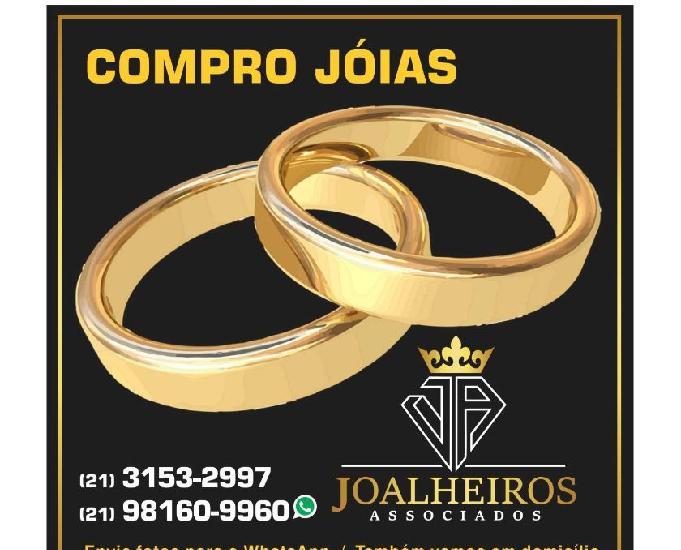 Compro jóias de ouro usadas inteiras quebradas ou amassadas
