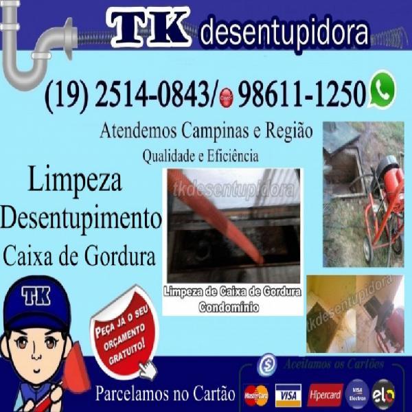 Desentupidora de esgoto em campinas (19) 2514-0843