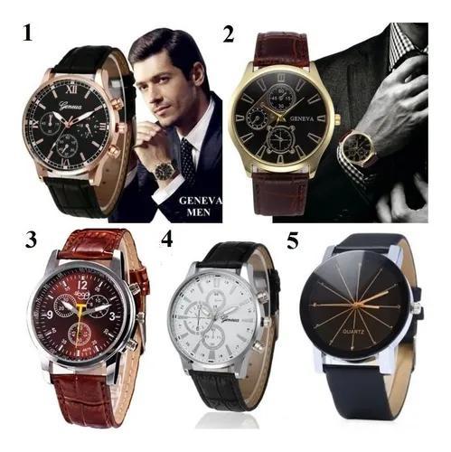 Kit 5 relógio masculino para revenda barato atacado