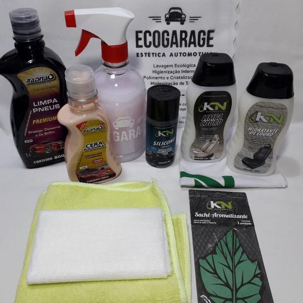 Kit lavagem ecológica para carros - completo kn radnaq