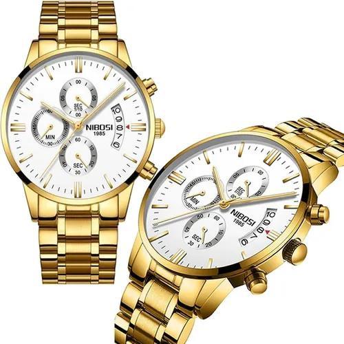 Relógio masculino original prova d'água funcional estojo