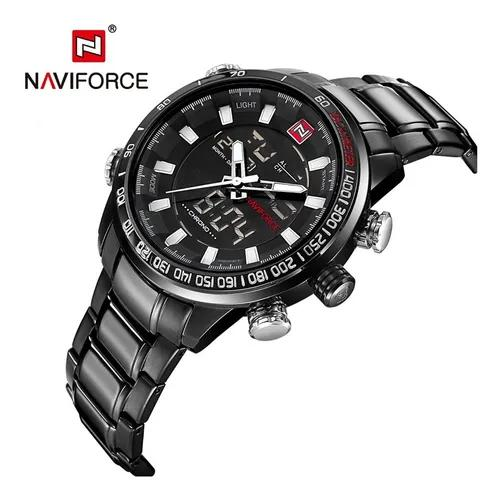 Relógio naviforce importado original modelo 9093 black
