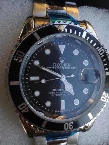 Submariner black relógio masculino com caixa