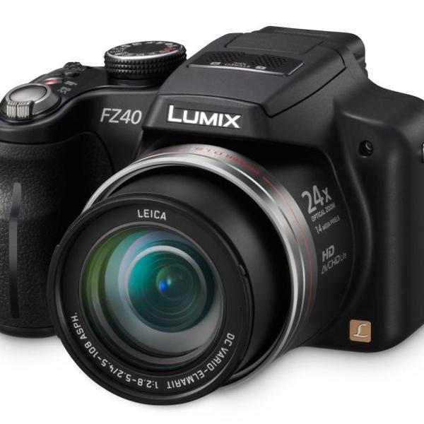 Camera panasonic lumix fz40 filma hd stereo zoom 24x 14.1 mp