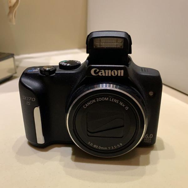 Câmera canon semiprofissional sx170 is